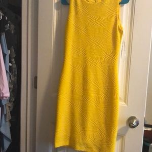 Yellow Calvin Klein's dress
